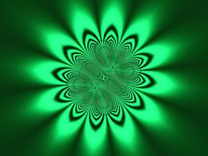 Abstract Pattern on Green Background by Albert Klein