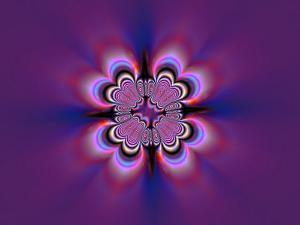 Abstract Pattern on Purple Background by Albert Klein