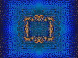 Blue and Orange Fractal Design by Albert Klein