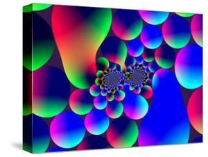 Multi-Coloured Abstract Fractal Pattern with Circular Shapes and Blobs by Albert Klein