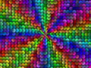 Multi-Coloured Abstract Fractal Pattern with Circular Shapes by Albert Klein