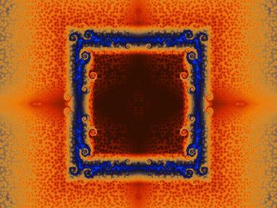 Orange and Blue Fractal Design