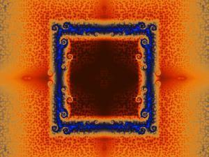 Orange and Blue Fractal Design by Albert Klein