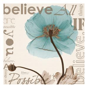 Believe, Blue Poppy by Albert Koetsier