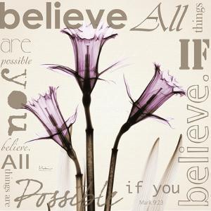 Believe, Violet Daffodils by Albert Koetsier