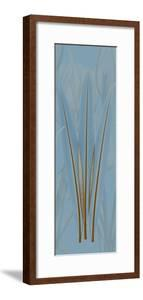 Brown Blue Palm by Albert Koetsier