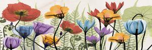 Flowers And Ferns Scape by Albert Koetsier