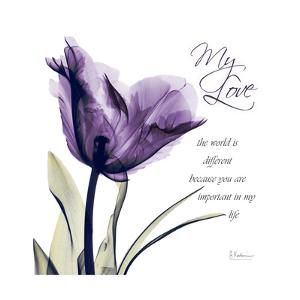My Love, Purple Tulip by Albert Koetsier