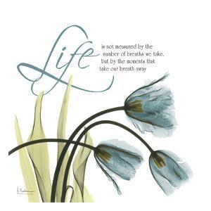 Swaying Tulips Blue, Life by Albert Koetsier