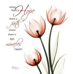 Swaying Tulips Pink, Hope by Albert Koetsier