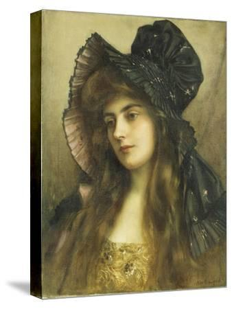 A Young Beauty in a Black Hat