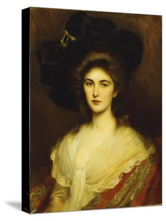 Portrait of an Elegant Lady in a Black Hat