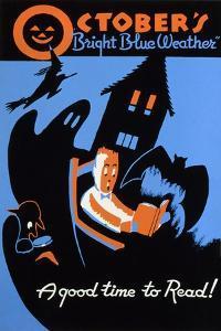 Reading Poster by Albert M. Bender