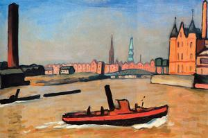 The Port of Humburg by Albert Marquet