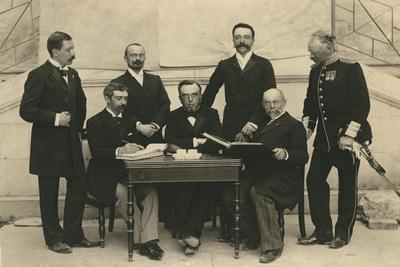 The Members of the First International Olympic Committee. Athens, Greece, 1896