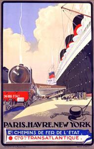 Paris-Havre-New York by Albert Sebille