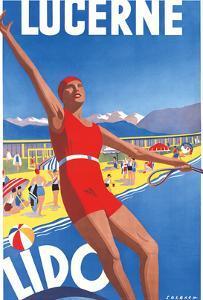 Lido, Lake Lucerne, Switzerland, c.1933 by Albert Solbach