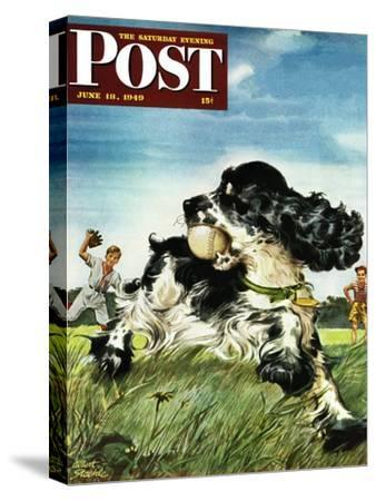 """""""Butch and Baseball,"""" Saturday Evening Post Cover, June 18, 1949"""