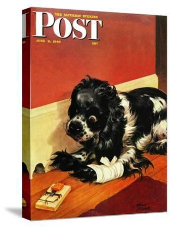 """""""Butch and Mousetrap,"""" Saturday Evening Post Cover, June 8, 1946"""