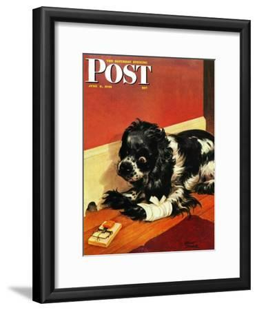 """Butch and Mousetrap,"" Saturday Evening Post Cover, June 8, 1946"
