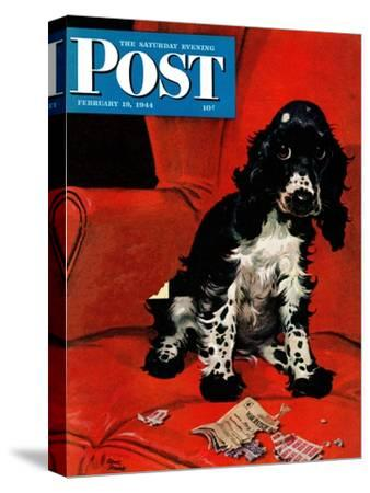 """""""Butch Ate the Coupons,"""" Saturday Evening Post Cover, February 19, 1944"""