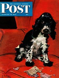 """""""Butch Ate the Coupons,"""" Saturday Evening Post Cover, February 19, 1944 by Albert Staehle"""
