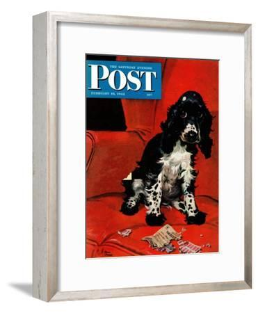 """Butch Ate the Coupons,"" Saturday Evening Post Cover, February 19, 1944"