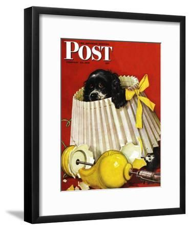 """Butch & Broken Lamp,"" Saturday Evening Post Cover, February 23, 1946"