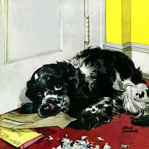 """""""Butch Chews the Mail,"""" March 13, 1948 by Albert Staehle"""