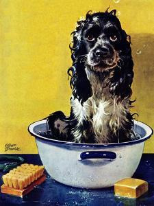 """Butch Gets a Bath,"" May 11, 1946 by Albert Staehle"