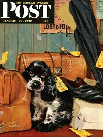 """Butch in Lost & Found,"" Saturday Evening Post Cover, January 29, 1949"
