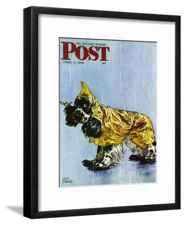 """Butch in Raingear,"" Saturday Evening Post Cover, April 2, 1949"