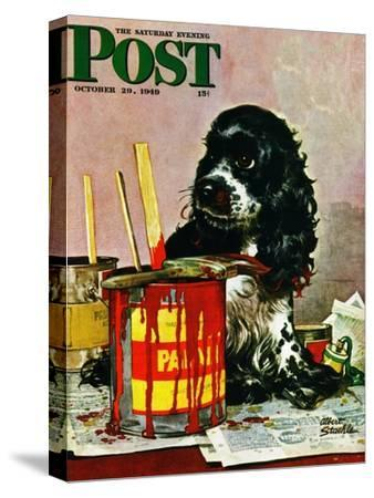 """""""Butch & Paint Cans,"""" Saturday Evening Post Cover, October 29, 1949"""