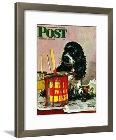 """Butch & Paint Cans,"" Saturday Evening Post Cover, October 29, 1949"