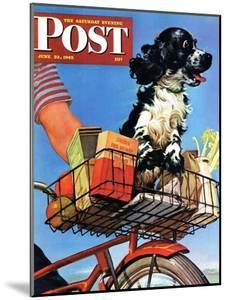 """""""Butch's Bike Ride,"""" Saturday Evening Post Cover, June 23, 1945 by Albert Staehle"""