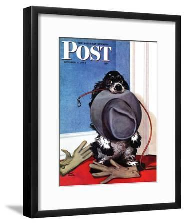 """Go for A Walk?,"" Saturday Evening Post Cover, October 7, 1944"