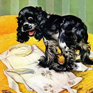 """""""Muddy Paw Prints,"""" December 6, 1947 by Albert Staehle"""