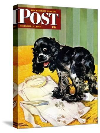 """""""Muddy Paw Prints,"""" Saturday Evening Post Cover, December 6, 1947"""