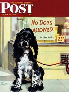 """""""No Dogs Allowed,"""" Saturday Evening Post Cover, August 24, 1946 by Albert Staehle"""