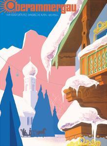 Winter Playground Bavarian Alps 850-1700m - Lufthansa by Albert Staehle
