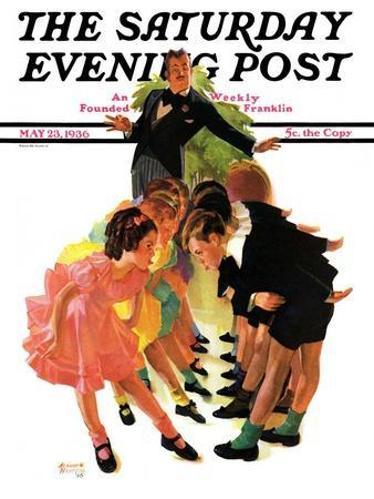 """""""Cotillion,"""" Saturday Evening Post Cover, May 23, 1936"""