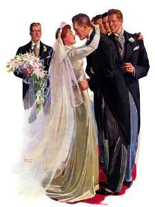 """Kissing the Best Man,""June 5, 1937 by Albert W^ Hampson"