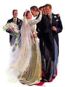 """Kissing the Best Man,""June 5, 1937 by Albert W^ Hampson"