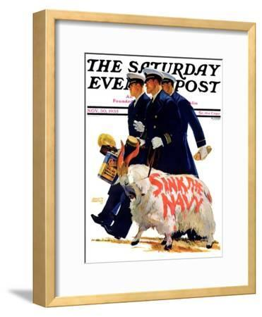 """Sink the Navy,"" Saturday Evening Post Cover, November 30, 1935"
