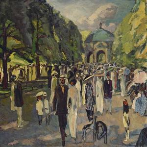 Im Muenchner Hofgarten, 1911 by Albert Weisgerber