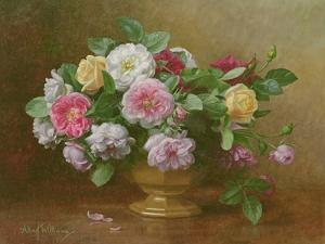 A Bowl of Roses by Albert Williams