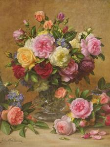 A Cluster of Victorian Roses by Albert Williams
