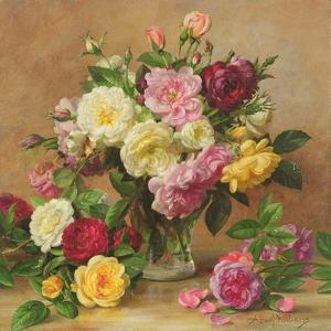 Old Fashioned Victorian Roses, 1995 by Albert Williams
