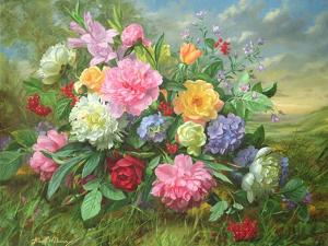 Peonies and Hydrangea by Albert Williams
