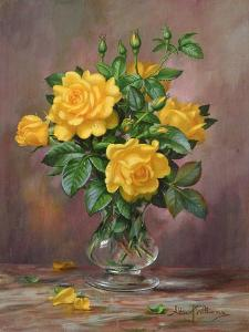 Radiant Yellow Roses by Albert Williams